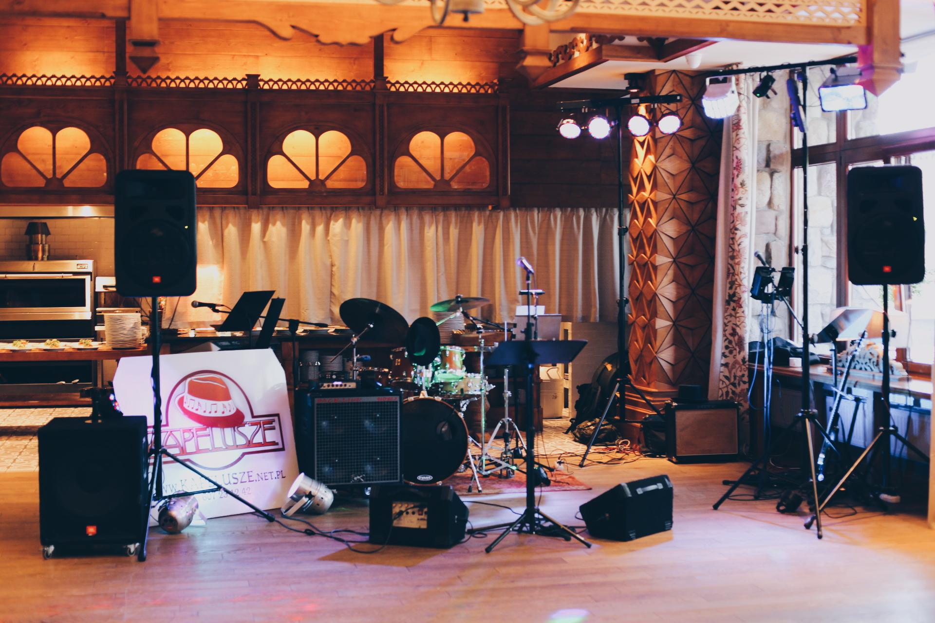 Kapelusze w Restauracji Halka, Hotel Aries w Zakopanem.  23.07.2016